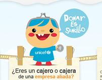 UNICEF - Unete con tu aporte  / WebSite