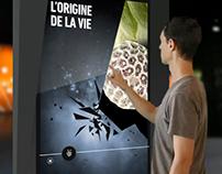 Planétarium de Montréal, écran interactifs