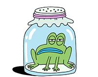 Frog in Jar