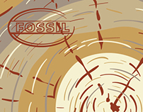 """Fossil Inc. """"All Natural Vintage"""" Watch Tin"""