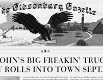 Big John's Big Freakin' Truck Party Invites/Flyers
