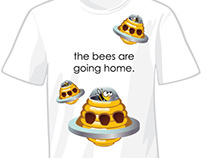 Tee Shirt Designs - The Bees Are Going Home