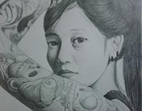 Hana Madness Portrait Drawing