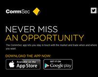 CommSec - Mobile App Launch