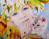 """of a series of paintings """"Children - flowers of life"""""""