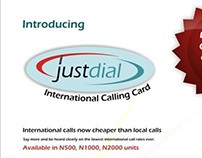 JUSTDIAL CALLING CARD