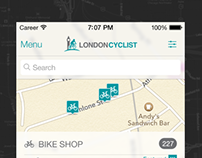 London Cyclist iOS 7 UI