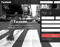 Facebook Sing Up Redesign