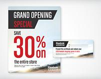 adidas & reebok sale signage