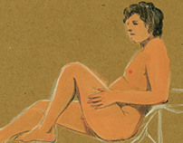 Nude Model Sketch Book