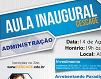 Aula Inaugural - ADM CESCAGE