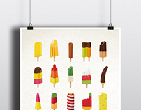 Popsicle Collection Din A2 Print