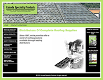 Canada Specialty Products Roofing website