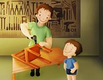 Ilustração Dia dos pais/ Father's Day illustration