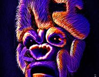 King Kong Typo Portrait