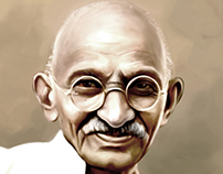 Gandhiji - Digital Portrait