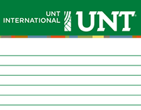 UNT - International Writing pad