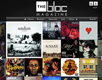 The Bloc Magazine Website Mockup