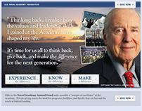 USNA Alumni E-blast & Website Fundraising Campaign
