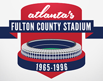 Fulton County Stadium Baseball Patch