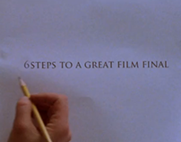 6 Steps To A Great Film Final