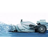 Liquid Racing Car