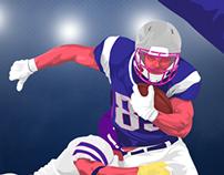 Illustration for Infographic NFL