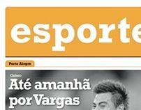 Sports page layout