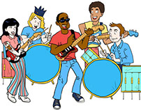 The Dirtbombs 'Ooey Gooey Chewy...' Illustration