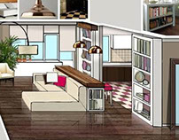 FLAT INTERIOR SKETCH MOSCOW