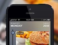 Iphone 5 - Health & Fitness App Design