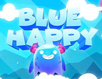 Happy Blue Gif Oscar creativo