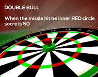 "Darts game ""501 rules"""