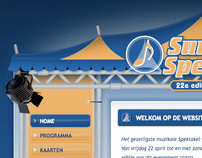 Website Summers Spektakel 2011