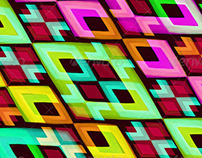 4 Multicolored Modern Abstract Backgrounds
