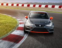SEAT Leon cup race. Before and After