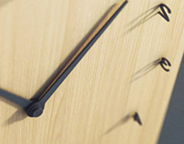 Концепция настенных часов с цифрами из теней