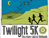Twilight 5k Poster and Logo
