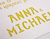Hochzeitskarte A&M