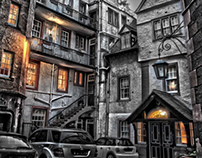 Mysterious Edinburgh in HDR