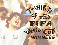 Fifa World Cup winners T-shirts collection