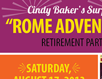 Rome Adventure Party Invitations
