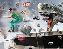 skateboard poster Curso pré Vestibular Arapongas