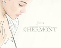 Joias Chermont - Criação de logo, papelaria e website.