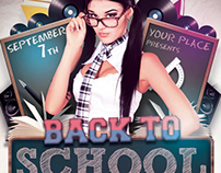 Back to School Party Flyer Template V3