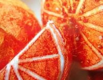 Felt Fruit - Textiles print project