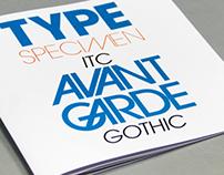 Type specimen Avant Garde