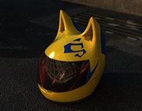 Durarara - Celty helmet 3D model