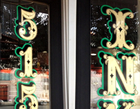5150 Ink Tattoo Company Vinyl Window Signs