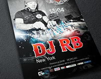 Poster for DJ RB (Heart Club)